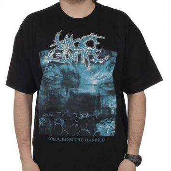 Halo Of Gunfire Men's  Conjuring The Damned T-shirt Black