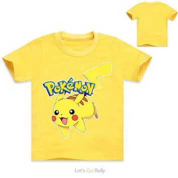 pokemon go kids t-shirt summer girls clothes boys t shirt pikachu kids costume children girls tops roupas infantis menino 2016