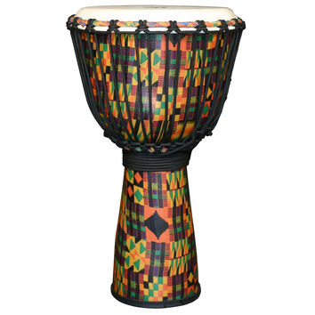 X8 Drums Kente Cloth Royal Djembe, Small