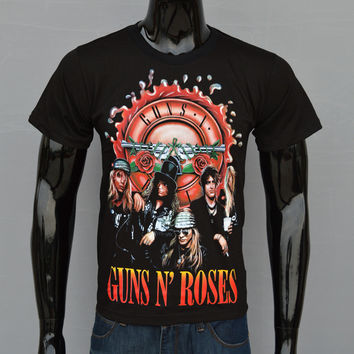 Guns N' Roses Axl Slash Rock November Rain Tee T-Shirt