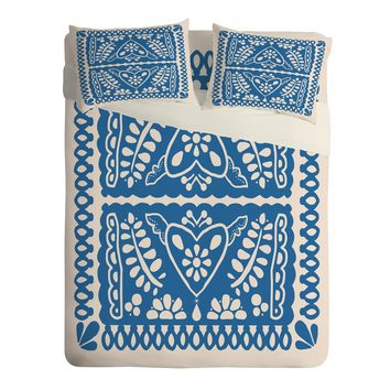 Natalie Baca Fiesta de Corazon in Blue Sheet Set Lightweight