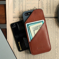 iPHONE 6 WALLET CASE - Fine, Men, Unisex - Tan - QDPH6T