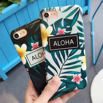 Backyard Luau Floral iPhone 7 7Plus & iPhone X 8 6 6 Plus Case Best Protection Cover +Gift Box-533