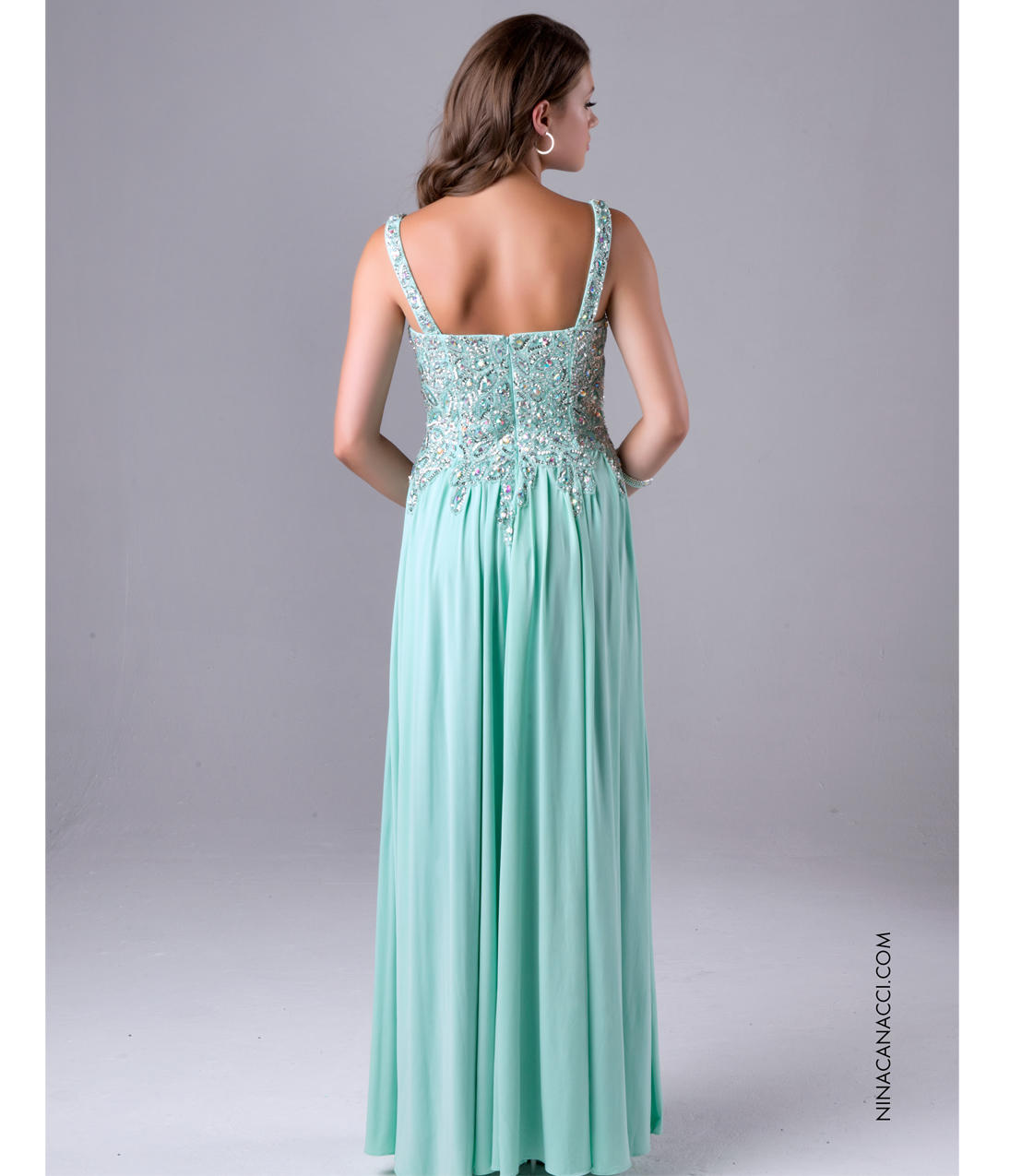 Nina Canacci 7108 Mint Green Embellished from Unique Vintage