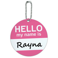 Rayna Hello My Name Is Round ID Card Luggage Tag