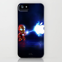 (Blu)Baby Ironman...damn apple! it's too hard to destroy!!!! iPhone Case by Emiliano Morciano (Ateyo) | Society6