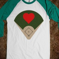 Heart in the Field (Baseball/Softball Tee)