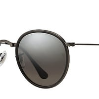 Ray-Ban RB3517 029/N8 51-22 ROUND FOLDING Gunmetal sunglasses | Official Online Store US