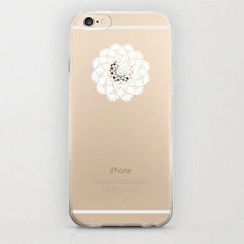 iPhone 6 Case Clear Plastic Cover Hard Shell Snap Case Atom Floral Print Apple Logo Boho Henna Unique Covers and Cases Apple iPhone 6