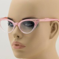 50's Retro Vintage Bohemian Cat Eye Gradient Frame Women Sexy Sunglasses Stones