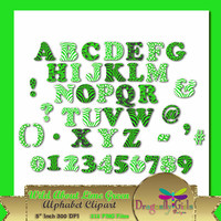 80% OFF Sale WILD About Lime Green Alphabet Digital Scrapbooking, Instant Download, Printable, Commercial use,Patterns