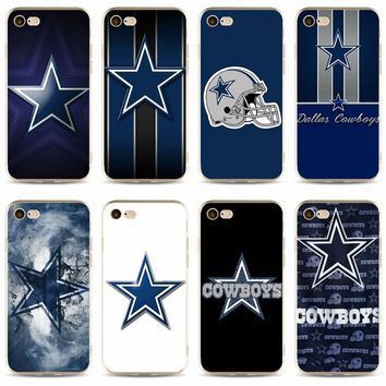 Dallas Cowboys Glitter Cover high quality Soft Silicone 2018 TPU Phone Case For iPhone 5 5C 5S SE X 6S 6plus 7 7S 7plus 8 8plus