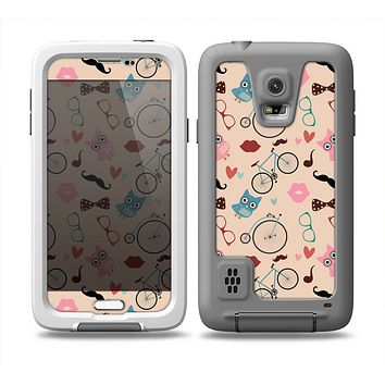 The Tan Colorful Hipster Icons Skin Samsung Galaxy S5 frē LifeProof Case