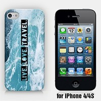 for iPhone 4/4S - Live, Love, Travel - Motivational Quote - Wanderlust - Travel - Ship from Vietnam - US Registered Brand
