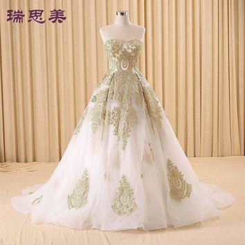 Golden Embroidery Medieval Renaissance Gown Princess Dresses