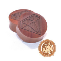 Diamond Engraved Wood Plugs
