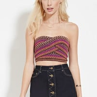Strapless Zigzag Crop Top