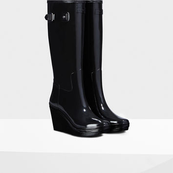 Women's Original Wedge Refined Gloss Tall Rain Boots
