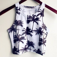 Fashion Sling Print Sleeveless Vest