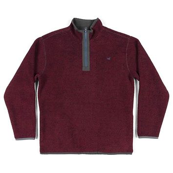 Highland Alpaca Pullover in Maroon by Southern Marsh