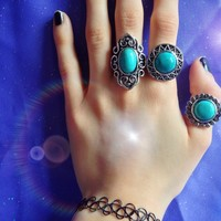 Turquoise Gems Ring