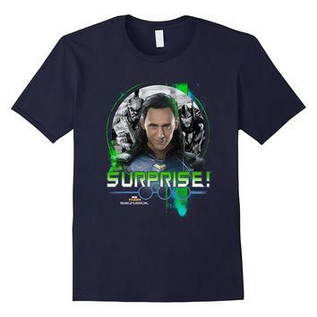 Marvel Thor Ragnarok Loki Surprise Green Pop Graphic T-Shirt