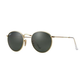Ray Ban Round Metal Sunglass Arista Gold RB 3447 001