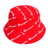 Champion New fashion more letters print with couples casual hats Red