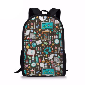 Chemistry Backpacks for Teenage Boys Print School Children Bag Tumblr Rucksack 17 Inch Laptop Backpack for Men 2018