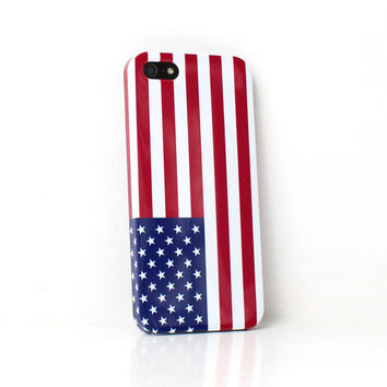America USA Flag iPhone Case For - iPhone 6 Plus Case - iPhone 6 Case -iPhone 5C Case - iPhone 5 Case - iPhone 4 Case