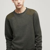 Rag & Bone - Tweed Combat Sweatshirt, Army