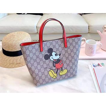GUCCI 2019 new women's wild fashion shopping bag handbag