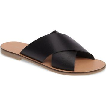 Topshop Holiday Cross Strap Sandal (Women) | Nordstrom