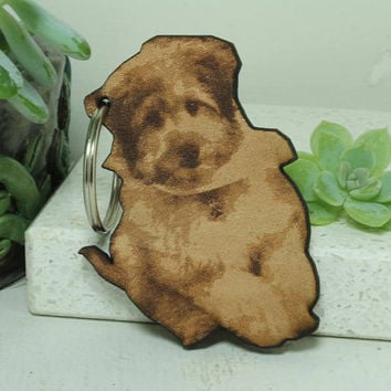 Personalized Photo cut out key chain Leather key chain
