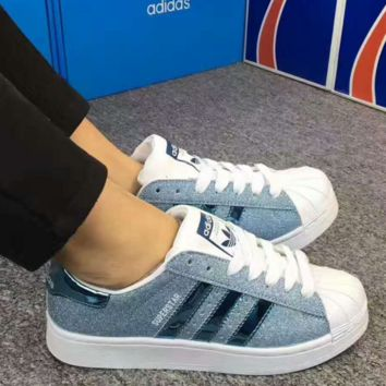 ADIDAS Shells colorful Sport Casual Shoes Sneakers light blue