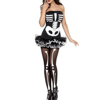 Halloween  Costume  Skeleton  Dress  Halloween  Party