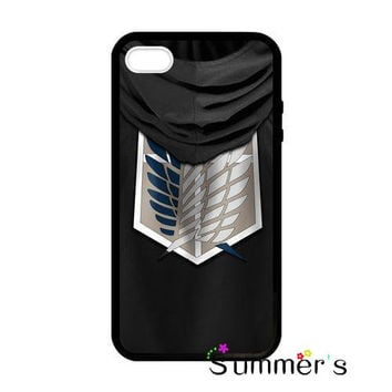 Attack on Titan Shingeki no Kyojin cellphone case cover for iphone 4s 5s 5c 6s plus Samsung Galaxy S3/4/5/6/edge+ Note2/3/4/5