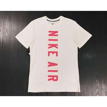 NIKE Stylish Trending Women Men Casual Letter Print Sport Short Sleeve Round Collar Cotton T-Shirt Top I-XMCP-YC