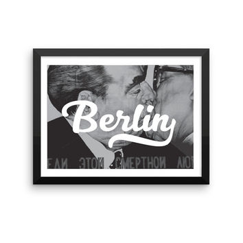 Berlin | TRAVEL ART PRINT | A5/A4/A3/A2 - Berlin Travel Poster, Germany, Graphic Design, Typography, Black and White