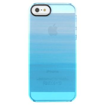 Ocean waves with soft shades of blue clear iPhone SE/5/5s case