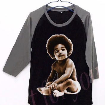 The Notorious Big Baby Unisex Men Women Black Long Sleeve Baseball Shirt Tshirt Jersey