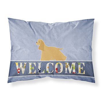 Cocker Spaniel Welcome Fabric Standard Pillowcase BB5490PILLOWCASE