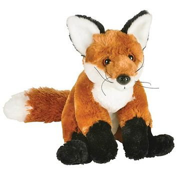 10 Inch Red Fox Stuffed Animal Plush Floppy Zoo Species Collection