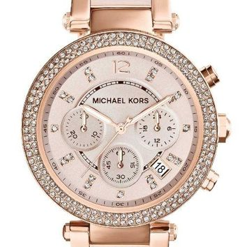 NEW MICHAEL KORS MK5896 LADIES ROSE GOLD PARKER WATCH - 2 YEAR WARRANTY