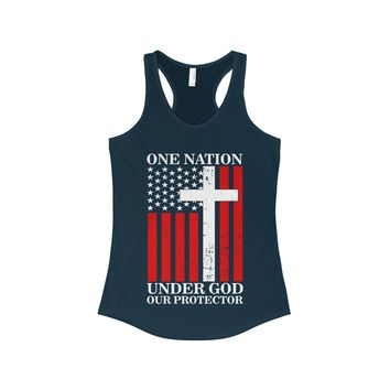 One Nation Under God Our Protector - Women's Tank