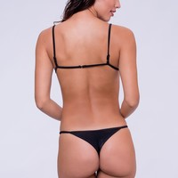 Dbrie Swim Cameron Thong Bottom - Noir