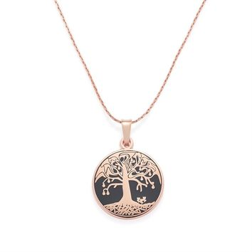 Charcoal Tree Of Life Expandable Necklace