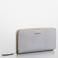 rowell pebble leather continental wallet | Calvin Klein
