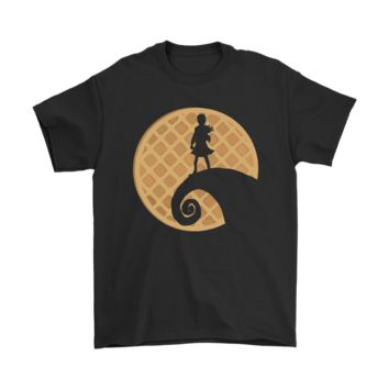 PEAPV4S Eleven Waffles Stranger Things Nightmare Before Christmas Shirt