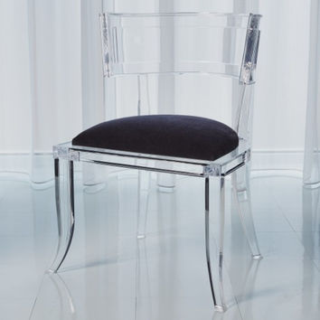 Klismos Acrylic Chair-Black